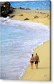 Together Alone Acrylic Print by Karen Wiles
