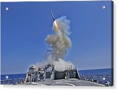 Tomahawk Cruise Missile Launched Acrylic Print by Everett