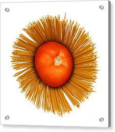 Tomato And Pasta Acrylic Print by Blink Images