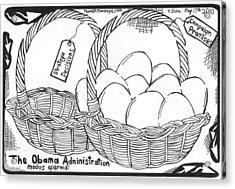Too Many Eggs In One Basket By Yonatan Frimer Acrylic Print by Yonatan Frimer Maze Artist