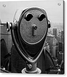 Top Of The Rock Acrylic Print by Edward Fielding