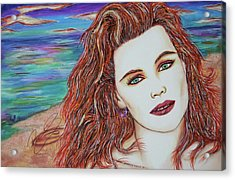 Tori Sees Red Acrylic Print by Joseph Lawrence Vasile