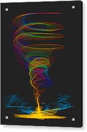 Tornado Acrylic Print by Angela A Stanton