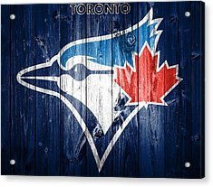 Toronto Blue Jays Barn Door Acrylic Print by Dan Sproul