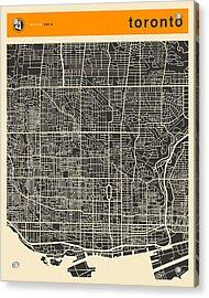 Toronto Map Acrylic Print by Jazzberry Blue