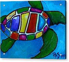 Tortuga Acrylic Print by Patti Schermerhorn