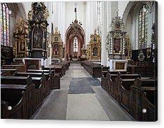 Torun Cathedral Interior In Poland, Acrylic Print by Artur Bogacki