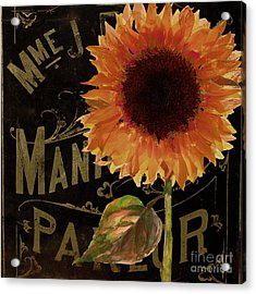 Tournesols Orange Sunflowers Acrylic Print by Mindy Sommers