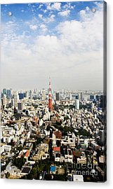 Tower And City View Acrylic Print by Bill Brennan - Printscapes