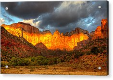 Towers Of The Virgin Two Acrylic Print by Paul Basile