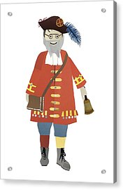 Town Crier Acrylic Print by Isoebl Barber