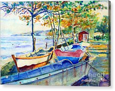 Town Fishery Acrylic Print by Estela Robles