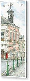 Town Hall Clock Garstang Lancashire Acrylic Print by Sandra Moore