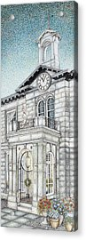 Town Hall Clock Kirkby Lonsdale Cumbria Acrylic Print by Sandra Moore