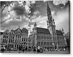 Town Hall In The Grand Place Acrylic Print by Georgia Fowler
