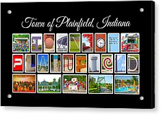 Town Of Plainfield Indiana Acrylic Print by Dave Lee