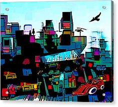 Toyland Acrylic Print by Sabine Stetson