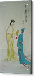 Tr 024 High-ranked Imperial Concubine Come Out Bath Acrylic Print by Mojie Wang
