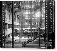 Track Level And Concourses Pennsylvania Station New York Acrylic Print by Russ Brown
