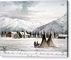 Trading Outpost, C1860 Acrylic Print by Granger