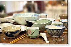 Traditional Chinese Dinner Table Acrylic Print by Yali Shi