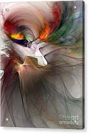Tragedy Abstract Art Acrylic Print by Karin Kuhlmann