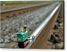 Train On Tracks Acrylic Print by Bill Kellett
