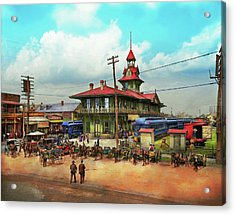 Train Station - Louisville And Nashville Railroad 1905 Acrylic Print by Mike Savad