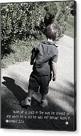 Train Up A Child Acrylic Print by Ethan Babler