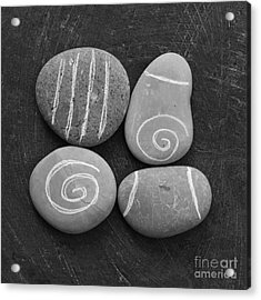 Tranquility Stones Acrylic Print by Linda Woods
