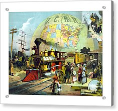 Transcontinental Railroad Acrylic Print by War Is Hell Store