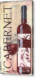 Transitional Wine Cabernet Acrylic Print by Debbie DeWitt
