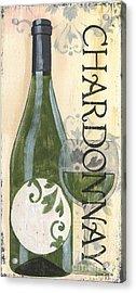 Transitional Wine Chardonnay Acrylic Print by Debbie DeWitt