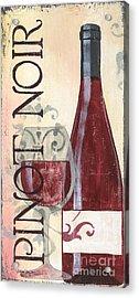 Transitional Wine Pinot Noir Acrylic Print by Debbie DeWitt