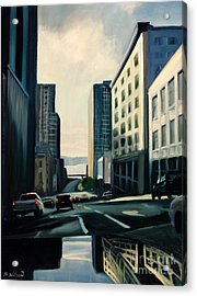 Travelers Acrylic Print by Barbara Wilson