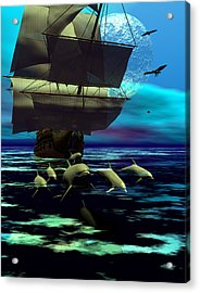 Traveling Companions Acrylic Print by Claude McCoy