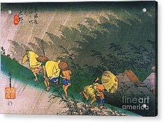 Travellers Surprised By Rain Acrylic Print by Pg Reproductions
