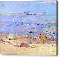Treading Clams At Wickford Acrylic Print by William James Glackens