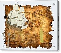 Treasure Map Acrylic Print by Corey Ford