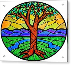 Tree Of Grace - Summer Acrylic Print by Jim Harris