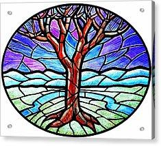 Tree Of Grace - Winter Acrylic Print by Jim Harris