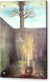 Tree On The Sky Acrylic Print by Gabriela Valencia