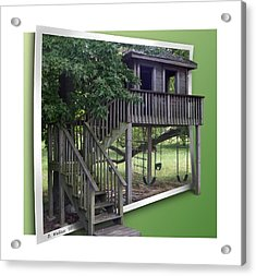 Treehouse Playground Acrylic Print by Brian Wallace