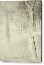 Trees  Study For La Grande Jatte Acrylic Print by Georges Pierre Seurat