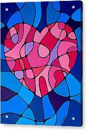 Treu Love Acrylic Print by Sharon Cummings