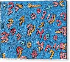 Color Order No. 12 24 X 36 2011 Acrylic Print by Radoslaw Zipper