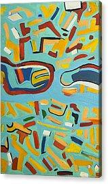 Untitled  Oil On Canvas 2004 23 X 36 Acrylic Print by Radoslaw Zipper