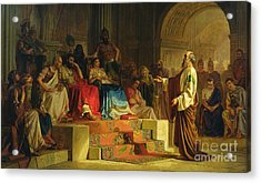 Trial Of The Apostle Paul Acrylic Print by Nikolai K Bodarevski