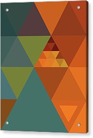 Triangles Colors City 2 Acrylic Print by Francisco Valle