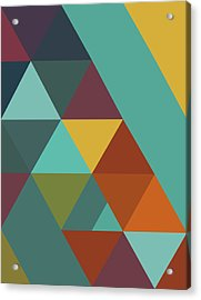 Triangles Colors City 4 Acrylic Print by Francisco Valle